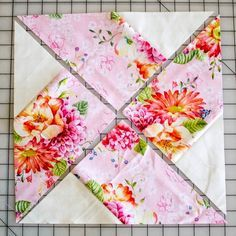 Classic Blocks: Fresh Fabric... the Whirlwind Quilt Block {tutorial} — SewCanShe | Free Daily Sewing Tutorials  I have made this before this technique is much easier.