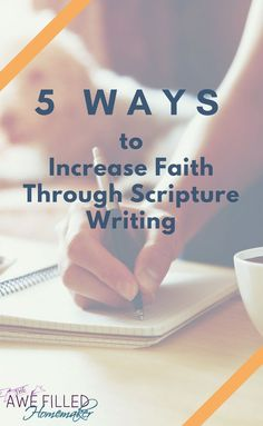 Its easy to get stuck in our spiritual growth and need something new to give us a push. For me, that was writing the Scriptures. Here are 5 ways I grew my faith through Scripture writing. #BibleStudy #Journaling #WriteTheWord #SpiritualGrowth #WomenWithSwords via @AFHomemaker