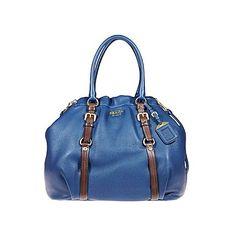 Prada Handbags and Purses. New Prada Handbags 2010, Code:... (6900 QAR) ❤ liked on Polyvore featuring bags, handbags, purses, borse, man bag, prada, deerskin handbag, brown purse and blue handbags