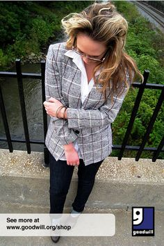 Shoulder pads can be removed from vintage blazers and blouses to give them a softer, more modern appeal.