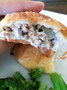 "Sausage & Cheese Calzones - (S)   ""My husband has long been a lover of calzones . . . He whole-heartedly approves of these calzones!"" - Sarah  www.TrimHealthyMama.com"