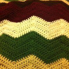 Cozy warm blanket crocheted by me!