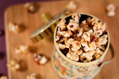 I must make this for a Christmas party this year. Everyone be hoping it is the one you are invited to as well! Bacon Bourbon Salted Caramel Popcorn.