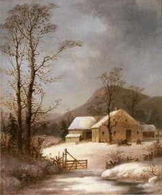 Winter Farmyard - (George Henry Durrie)