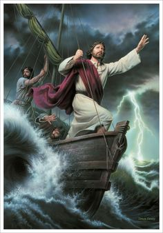 Would you rather miss the storm than be present for the miracle during it? Faith in Christ is never misplaced. If Jesus can calm the storms of the sea with one word, He can calm the storms of life as well. Images Du Christ, Images Bible, Pictures Of Jesus Christ, Bible Pictures, Temple Pictures, God Pictures, Jesus Calms The Storm, Jesus Our Savior, Jesus Art