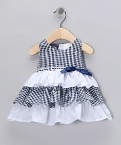 Navy Ruffle Dress - Infant | zulily