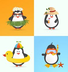 Discover thousands of copyright-free vectors. Graphic resources for personal and commercial use. Thousands of new files uploaded daily. Free Summer, Summer Art, Cute Images, Cute Pictures, Free Badges, Tropical Christmas, Cute Penguins, Kawaii Cute, Winter Wonderland