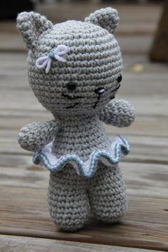 Ganchillo gato Crochet gatito gato Amigurumi por MrsVsCrochet