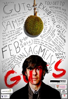 GUTS is a fictional exhibition for Stefan Sagmeister.