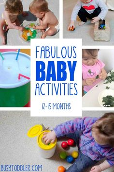 EASY BABY ACTIVITIES: awesome baby activities for ages months; learning activities for babies; ways to entertain a baby 15 Month Old Activities, Baby Learning Activities, Infant Sensory Activities, Baby Sensory Play, Montessori Activities, Baby Play, Baby Development, Toddler Play, Baby Crafts