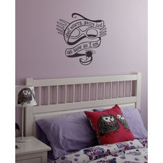 """Harry Potter Luna Lovegood """"Just as Sane"""" Wall Art Decal ($12) ❤ liked on Polyvore featuring home, home decor, wall art, mounted wall art, interior wall decor, wall art decals and wall detail"""