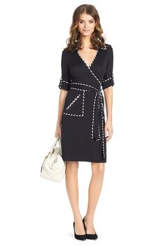 Faith Stitch Detail Wrap Dress