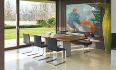 5 verschiedene Designs, 5 Esstische, Sitzbänke und Stühle von Girsberger