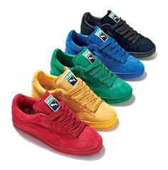 Addicted to all these Puma Suede Eco-Tonal Pack I want the blue soooo bad! Pumas Shoes, Men's Shoes, Nike Shoes, Sneakers Fashion, Fashion Shoes, Mens Fashion, Puma Sneakers, Shoes Sneakers, Mode Cool