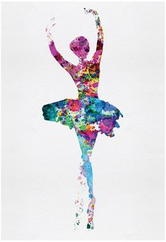 Ballerina Watercolor 1 Posters af Irina March på AllPosters.dk