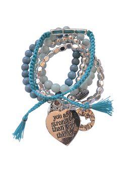 Believe Bracelet Set Blue Hippie Gypsy ac23553f678