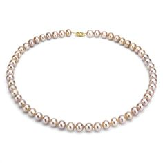 DaVonna 14k 10-11mm Freshwater Cultured Pearl Strand Necklace