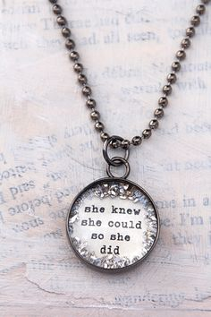 she knew she could charm [CS66] - $23.00 : Beth Quinn Designs  , Romantic Inspirational Jewelry