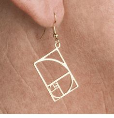 Golden Mean Earrings- Normally don't wear big jewelry, but I would wear a bracelet, a necklace and ANYTHING ELSE with this.