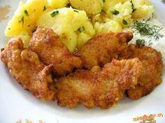 Marinované kuracie nugetky v zemiakovom cestičku. Kuracie prsia ( ½ kg), 2 PL worcestr omáčky, 2 PL sój omáčky, 1 KL soli, 2 KL korenia na kurča, 2 strúčiky cesnaku, 2 PL oleja, štipka mčk, olej na vyprážanie*** zemiakové cestičko: 2 zemiaky, 1 vajíčko, 3 PL polohr múky Prsia nakrájame, premiešame s korením a omáčkami, zakryjeme a odložíme do chladničky na 24 hodín. Rozmixujeme zemiaky, pridáme vajíčko, múku, premiešame a pridáme do misy k mäsku, postupne môžeme vyprážať v menšom množstve… Slovak Recipes, Czech Recipes, Hungarian Recipes, Ethnic Recipes, No Salt Recipes, Cooking Recipes, Turkey Recipes, Chicken Recipes, Good Food