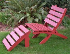 Rest Your Feet! Cedar Foot rest Footrest Ottoman for Patio & Garden Chairs in 15 Colors handcrafted by Laughing Creek