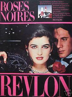 "Revlon ""Roses Noires"" Cosmetics Ad, 1980"