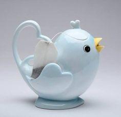 Appletree Design Love Bird Collection Blue Bird Teapot