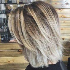 Blonde Bob Hairstyles, Bob Hairstyles For Fine Hair, Layered Bob Hairstyles, Hairstyles Haircuts, Long Bob Haircuts With Layers, Medium Choppy Haircuts, Medium Hair Cuts, Short Hair Cuts, Medium Hair Styles