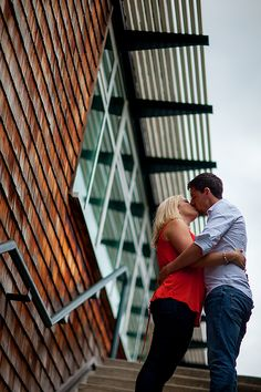 Had to share another one of my favourites from an engagement shoot I photographed this past Sunday! They decided to book me for an engagement session at Deer Lake Park in Burnaby as well which is great for me as I adore engagement shoots! This particular photo was of the couple kissing on the stairway of a very modern building which I'm loving!