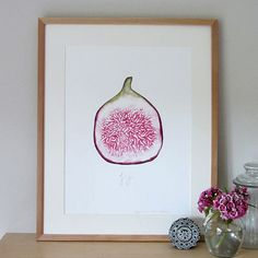 Fig A3 digital watercolour print by stephaniecoleDESIGN on Etsy
