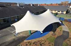 Tensile Fabric Structure Playground Canopy