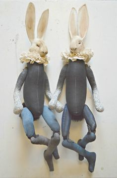Juxtapoz Magazine - Mister Finch: Textile Artist Who Lives In a Fairytale World Textile Sculpture, Soft Sculpture, Mister Finch, Fairytale Creatures, Rabbit Art, Fabric Toys, Textiles, Sock Animals, Cat Doll