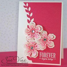 Sue Vine | MissPinksCraftSpot | Stampin' Up!® Australia Order Online 24/7 |Botanical Blooms | Suite Sayings | Handmade Card #stampinup #botanicalblooms #suitesayings