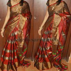 Latest Tissue Uppada Sarees   Saree Blouse Patterns