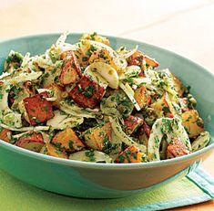 Roasted Potato Salad with Shaved Fennel & Salsa Verde