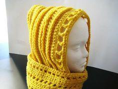 Crochet Dreamz: Aesthetic Hooded Scarf (Free Crochet Pattern)