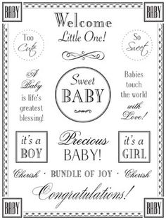 Baby Fancy Sentiment From SRM Stickers. So Beautiful And Easy To Use! Www.