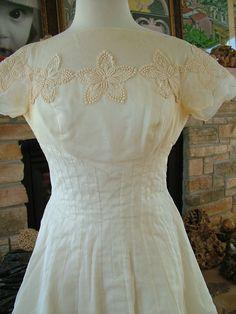 Wedding dress 1960s 1950s vintage silk by RetroVintageWeddings, $435.00