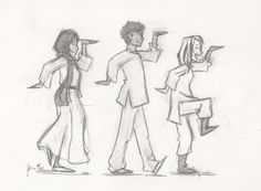 Walk like an Egyptian with Zia, Carter, and Sadie :)