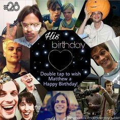 """I never imagined I would have one fan and there seems to be a few. I just couldn't be happier that people seem to like what I'm doing and seem to respond to it. If they weren't there I don't know what I'd be doing right now."" - Matthew Gray Gubler HAPPY BIRTHDAY GUBE! Just three words from my heart. Couldn't be more real and sincere than that. I won't write a poem about everything I love and admire about him cause there are so many things! I'll just say that I wish him the best birthday…"