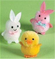 bunnies and chick. Cute craft to do with kids