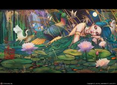 chinoiserie--Floating dream by Jie He | 2D | CGSociety