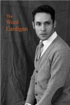 Adentro Style: The Wool Cardigan/ Knit tie/ white shirt