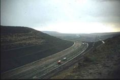 Work on the M62, 1970