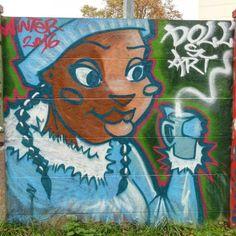 Street art au bord de l'Orge à Savigny-sur-Orge - Doll's art en couleur 20161114031