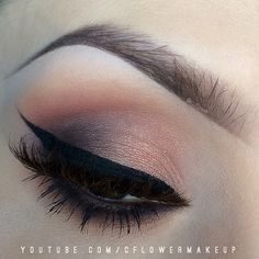 peach smokey eye - beautiful!  ~ we ❤ this! moncheriprom.com