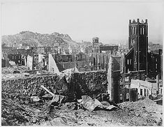 1906 San Francisco Earthquake Pictures: Damage on Grant Ave