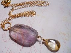 Ametrine Dream Necklace SALE 30 was 80 now 56 $56.00 http://www.etsy.com/listing/55926277/ametrine-dream-necklace-sale-30-was-80?ref=v1_other_2