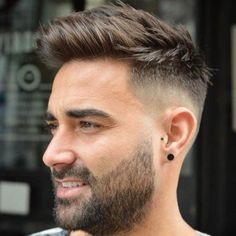 As one of the latest hair trends for men, the skin fade comes in a variety of cuts, such as a high, mid and low bald fade haircut. The low fade haircut can best be described as a lasting style that only gets better with time. [Read the Rest] → Comb Over Fade Haircut, Fade Haircut Styles, Beard Styles, Short Hair Styles Men, Cool Haircuts, Hairstyles Haircuts, Haircuts For Men, Straight Hairstyles, Haircut Men