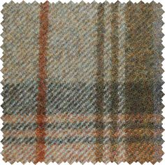 Sanderson Woodford Plaid is the largest design woven on a multi-coloured warp with a different striped pattern in the weft. This style is known as a Madras Check and creates a less formal look than traditional tartans.  Shown here in: Thistle/Thyme.